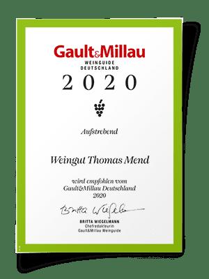 Auszeichnung Gault-Millau 2020